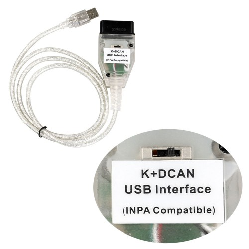 INPA K+DCAN for BMW With FT232RQ Chip with Switch Free