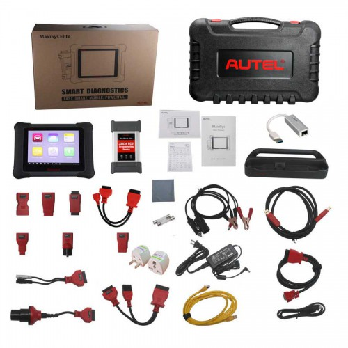 (UK Ship No Tax)Autel MaxiSys Elite WiFi/Bluetooth Tablet Diagnostic Tool with J2534 ECU Preprogramming Box Update Online