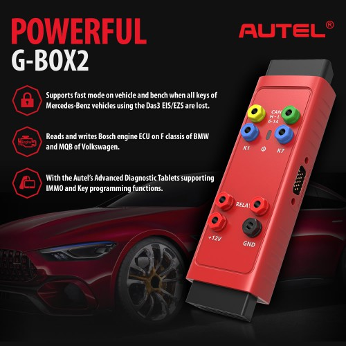 Autel GBox G-BOX2 Tool Benz & BMW Adapter GBox2 Mercedes Benz All Key Lost Tool Used with MaxiIM IM508 IM608