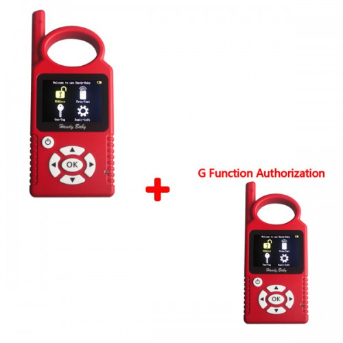 V8.3.0 Handy Baby Hand-held Car Key Copy Auto Key Programmer for 4D/46/48 Chips Plus G Chip Copy Function Authorization