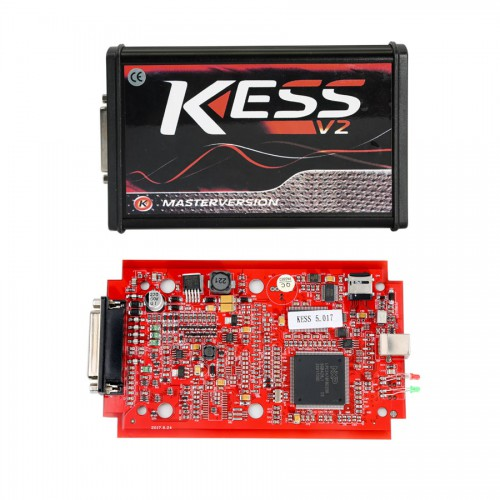 Newest V2.47 Kess V2 FW V5.017 Online Version with Red PCB Support 140 Protocol No Token Limited Get Free ECM TITANIUM V1.61