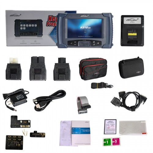 Lonsdor K518ISE Key Programmer Plus SKE-IT Smart Key Emulator 5 in 1 set Full Package Get Free 2pcs Toyota Smart Key PCB