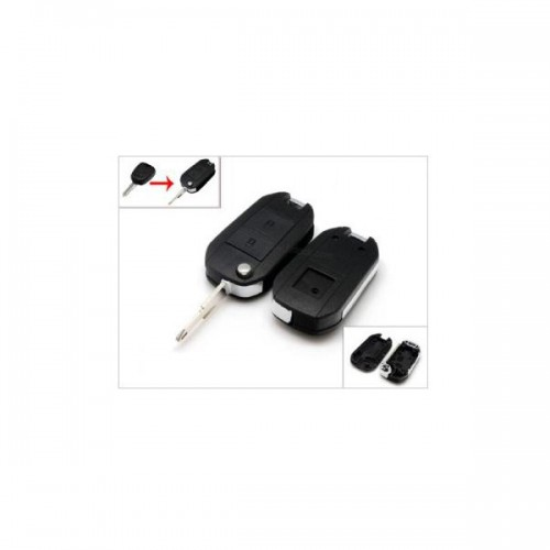 Modified Flip Remote Key Shell 2 Button 206 for Peugeot