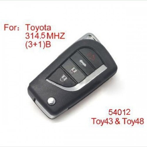 Remote Key 4buttons 315MHZ For Toyota Modified (No Chip Included)