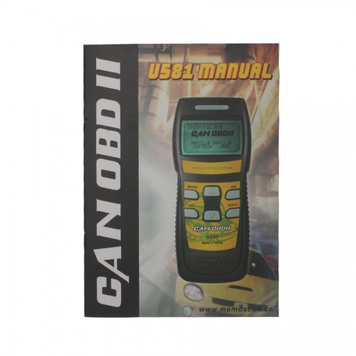 U581 CAN OBDII  Memo Scanner