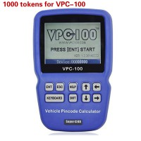 1000 Tokens for VPC-100 Hand-Held Vehicle Pin Code Calculator