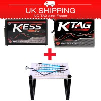 [Ship from UK NO TAX] Kess V2 V5.017 Red PCB Plus KTAG K-TAG Red PCB V7.020 Plus LED BDM Frame