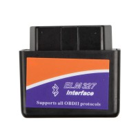MINI ELM327 Bluetooth OBD2 V1.5 (Black) Software V2.1