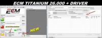 NEW VERSION ECM TITANIUM 1.61 With 182594 Driver Remap ECU