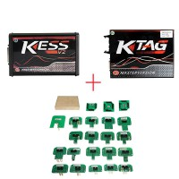 (Ship from UK NO TAX)Red PCB EU Version! V5.017 KESS v2 V2.47 Plus V7.020 KTAG Plus BDM Probe Adapters Full Set with Free ECM TITANIUM V1.61