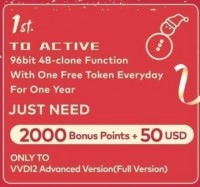 Xhorse VVDI Activate 96bit 48 Clone Function with One Free Token Everyday For VVDI2 Full