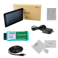 VXDIAG VCX NANO for LandRover/Jaguar WIFI Version Support All Protocols with Chuwi Hi10 Tablet