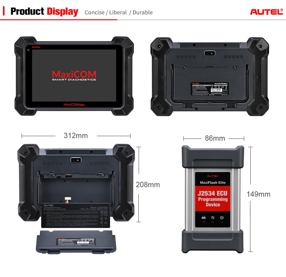 [Promotion]Original Autel MaxiCOM MK908P Update Version of MS908P with ECU  Coding and J2534 ECU Programming