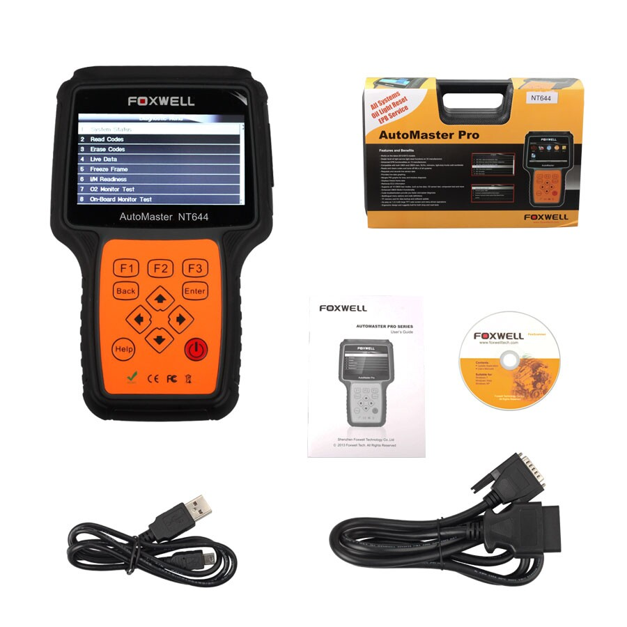 [Ship from UK NO TAX]Foxwell NT644 AutoMaster All Makes Full Systems + EPB + Oil Service Scanner
