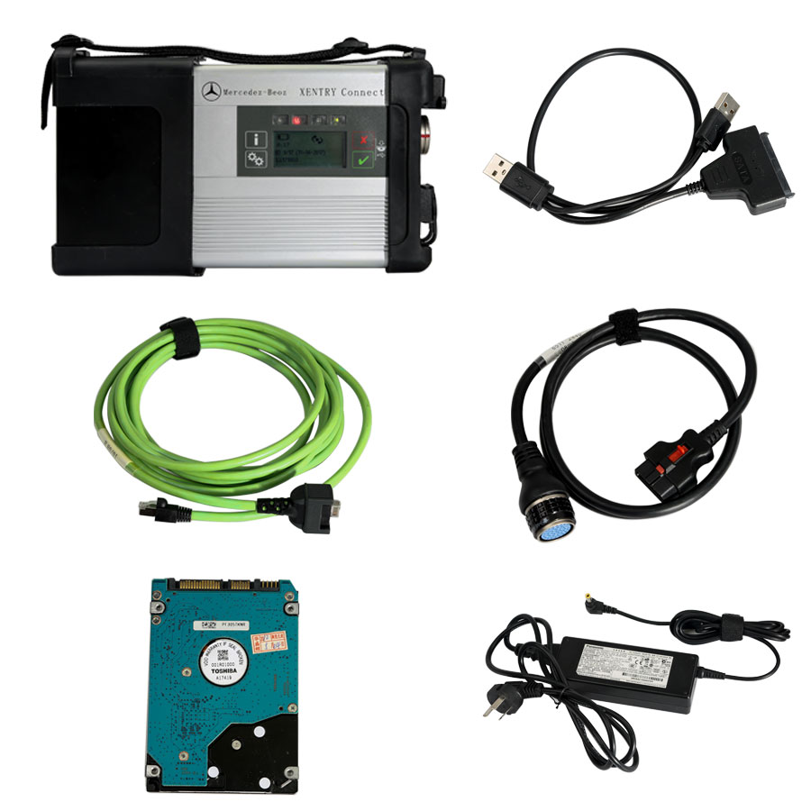 Original 2018.7 Mercedes Benz C5 SD Connect DoIP Wifi MB Star C5 Xentry Tab Kit Diagnosis Multiplexer With Engineer Software