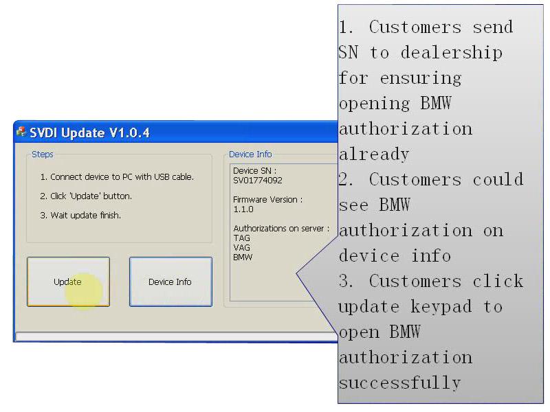 SVDI VAG BMW Commander software download