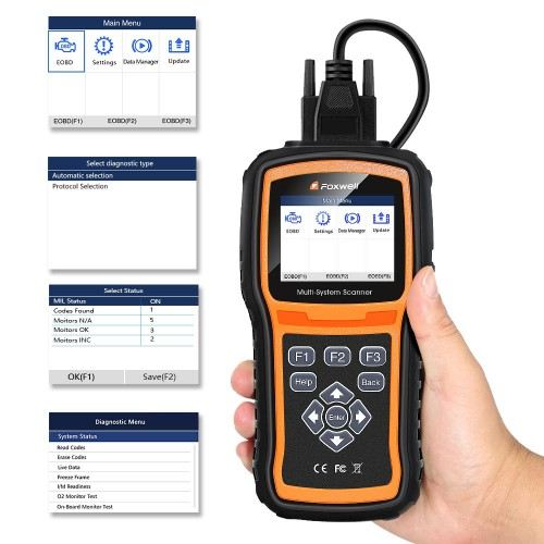[Ship from UK NO TAX] Foxwell NT530 Full-System OBD2 Diagnostic Scanner More License than NT520 Pro