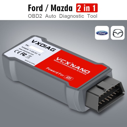 [Ship from UK/EU] V119 VXDIAG VCX NANO For Ford/Mazda 2 in 1 Diagnostic Tool XP/WIN 7/WIN8/WIN10