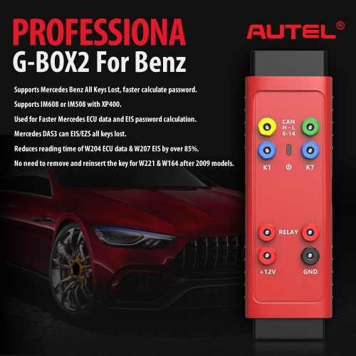 [UK Ship]Autel GBox G-BOX2 Tool Benz & BMW Adapter GBox2 Mercedes Benz All Key Lost Tool Used with MaxiIM IM508 IM608