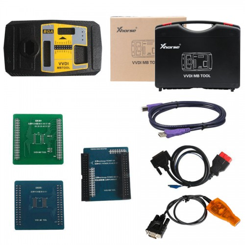 [4% Off €2187] VVDI MB Tool + VVDI2 Full Complate Authorizations Get A Free Mini Key Tool& 2pcs XHORSE KEYLESS GO PCB& 2pcs XHORSE ELV Emulator
