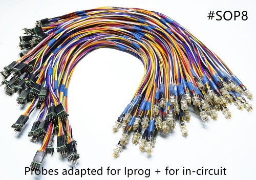 UK Ship Probes adapted for IPROG+ and Xprog for in-circuit
