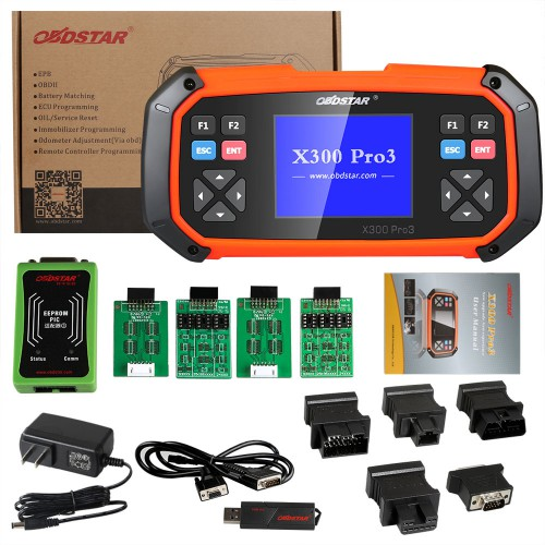 [Ship from UK NO TAX] OBDSTAR X300 PRO3 Key Master with Immobiliser + Odometer Adjustment +EEPROM/PIC+OBDII