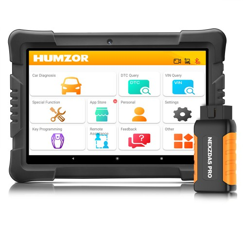 Humzor NexzDAS Pro Bluetooth 9.6inch Tablet Full System Auto Diagnostic Tool Professional OBD2 Scanner