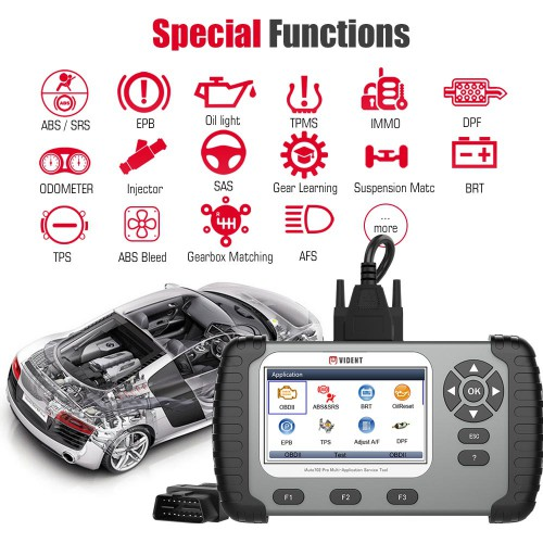 [Ship from UK/EU NO TAX] VIDENT iAuto702 Pro Multi-application Service Tool with 31 Special Functions 3 Years Free Update Online