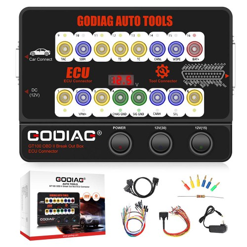 [7% Off €151 UK Ship] GODIAG GT100 Breakout Box ECU Tool with BMW CAS4 CAS4+ and FEM/BDC Test Platform Full Package