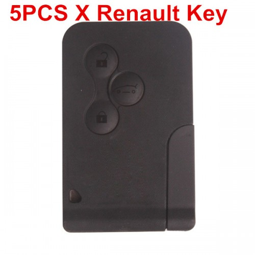 Buy 5pcs 3 Button Smart Key for Renault  433MHZ