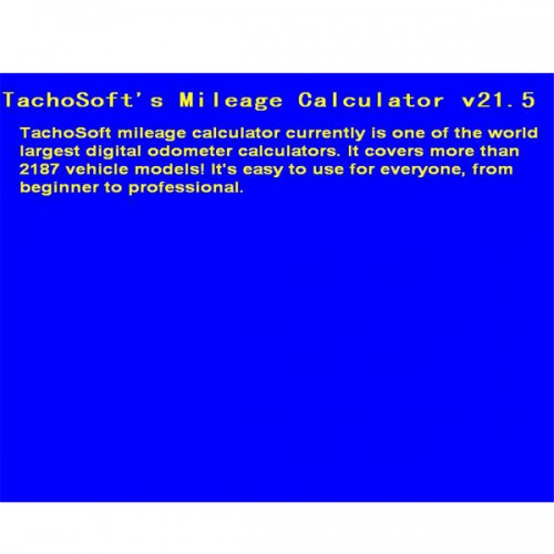 Tachosoft Mileage Calculator V21.5
