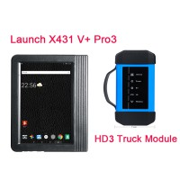 [Ship from UK/EU NO TAX] Launch X431 V+ Pro3 Wifi 10.1inch Tablet Plus X431 HD3 Heavy Duty Module Support Both Cars and Trucks