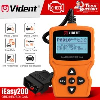 UK Ship VIDENT iEasy200 OBDII/EOBD+CAN Code Reader for Vehicle Checking Engine Light Car Diagnostic Scan Tool