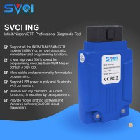 SVCI ING Infiniti/Nissan/GTR Professional Diagnostic Tool and Immobilizer Bypass Password and Support All the Modules Programmings