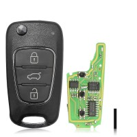Xhorse Hyundai Type Universal Remote Key Wireless PN XNHY02EN 3 Buttons 10 Pcs/Lot