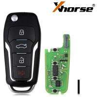 [UK Ship]XHORSE XEFO01EN Super Remote Key Ford Style Flip 4 Buttons Built-in Super Chip English Version 5pcs/lot