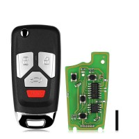 XHORSE XKAU02EN VVDI FLIP KEY UNIVERSAL REMOTE KEY WIRED for AUDI 5pcs/lot