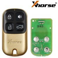 XHORSE XKXH02EN Universal Remote Key 4 Buttons for VVDI Key Tool Golden Style English Version 10pcs/lot