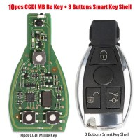 [On Sale] 10pcs Original CGDI MB Be Key V1.3 with Smart Key Shell 3 Button for Mercedes Benz Free Shipping