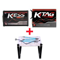 Kess V2 V5.017 Red PCB Plus KTAG K-TAG Red PCB V7.020 Plus LED BDM Frame