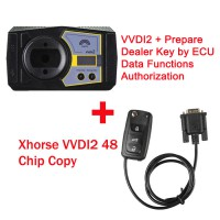 Xhorse V6.8.1 VVDI2 Key Programmer with Prepare Dealer Key by ECU Data Functions Authorization plus 48 Chip Copy Get Free Mini Key Tool