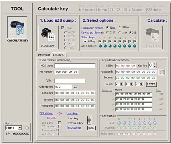 MB Dump Key Generator from EIS Calculator Service One Token
