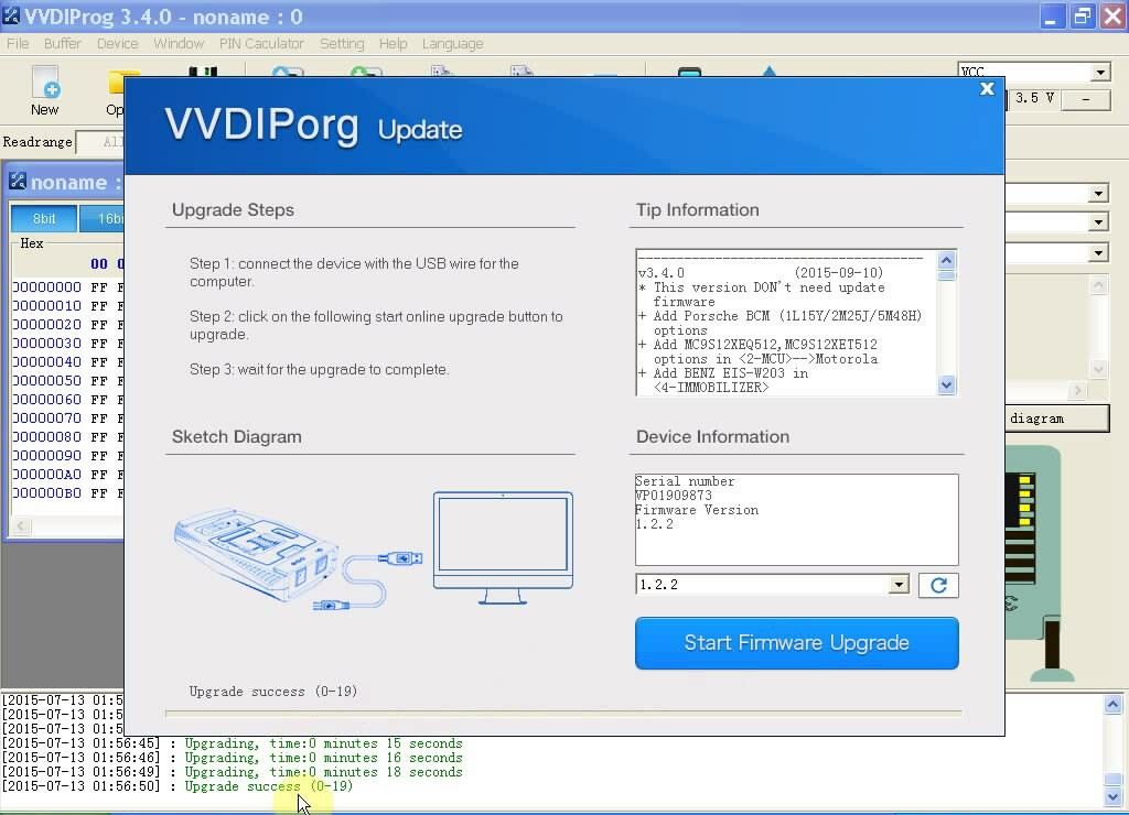 vvdi prog update method
