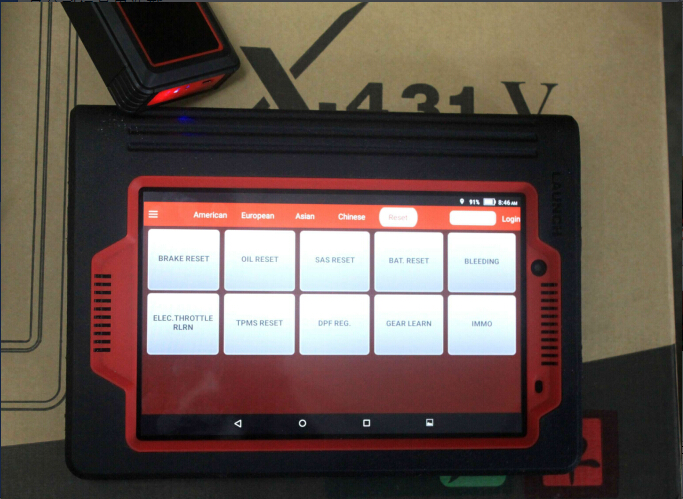 launch x431 v 8inch special function display